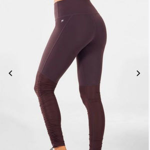 Fabletics espresso fold over ruched leggings